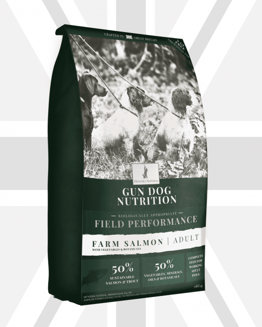 Hunters Natural Field Performance Grain Free Salmon Working Dog Food For Gun Dogs, Sheep Dogs