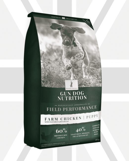 Hunters Natural Field Performance Chicken For Working Puppy and Junior Working Gun and Sheep Dogs - Grain free and Biologically Appropriate Complete Kibble