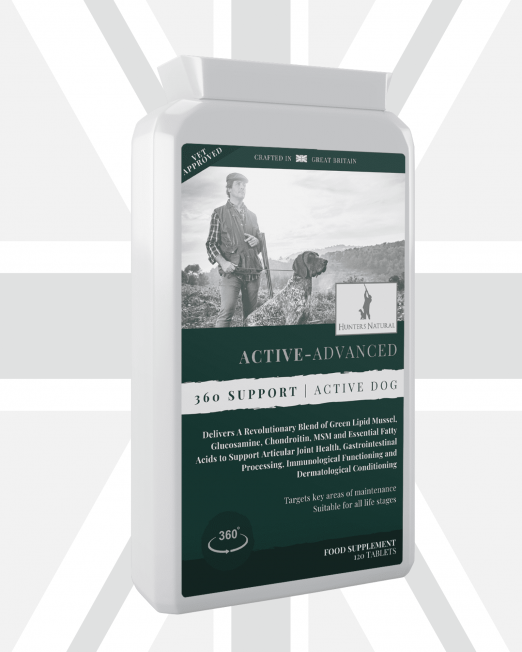 Active-Advanced Joint, Immune and Digestive Supplment for Active Working Dogs - Hunters Natural Front